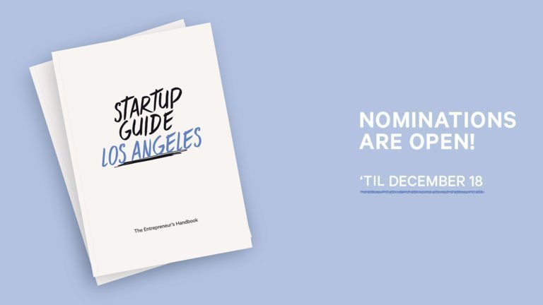Nominations Open for New Book to Highlight Top Players in Los Angeles' Startup Scene